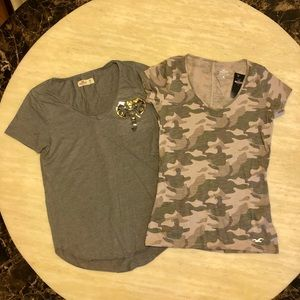 Bundle of Two New Hollister T-shirts XS/S